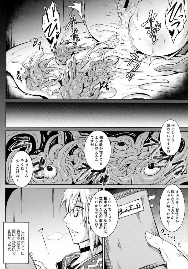 ロリキュートな幼女マンコとアナルで触手3Pwww【東方 エロ漫画・エロ同人】 23)