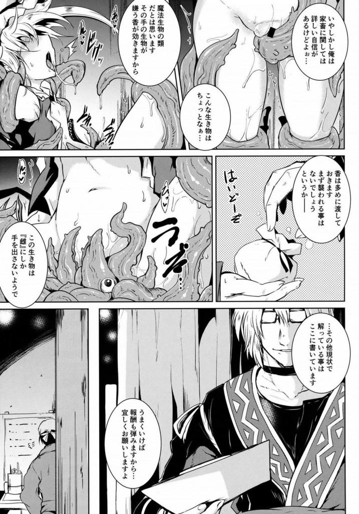 ロリキュートな幼女マンコとアナルで触手3Pwww【東方 エロ漫画・エロ同人】 6)