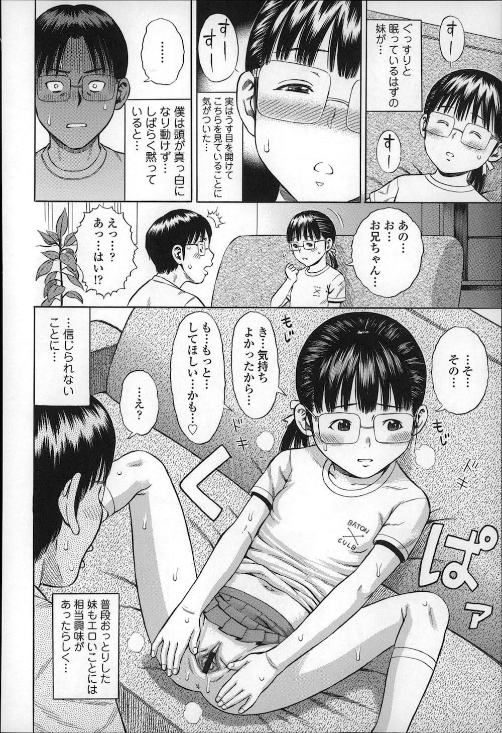 【エロ漫画】両親が不在の時におっとりしているメガネロリ妹とセックスしたら妹がSに目覚めてしまったwww 009